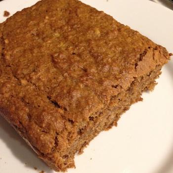 Baked vegan banana bread made with brown sugar.