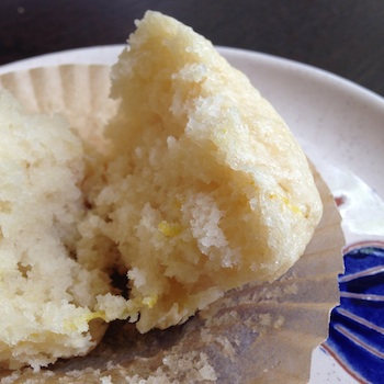 Vegan lemon muffin.
