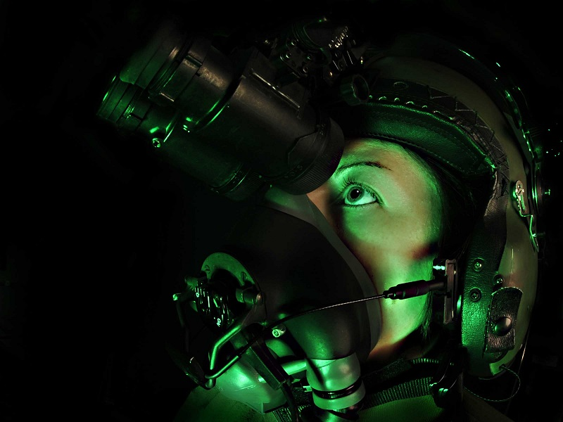 Night vision goggles are a commonly used form of night vision technology.