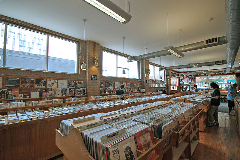 Store selling vinyl records.