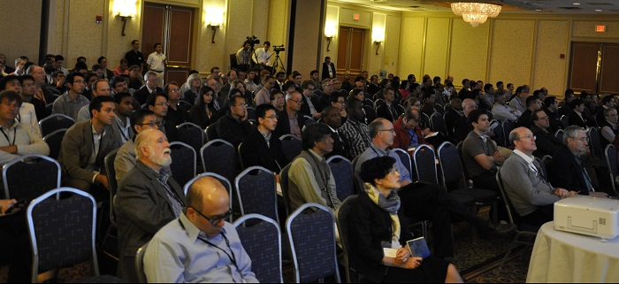 A photo of attendees at the COMSOL Conference.