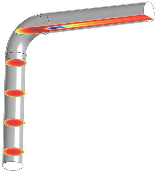 A photo of pipe elbow center slices.