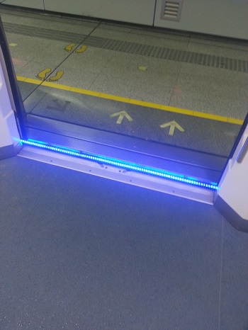 An example of a blue LED, a technology recognized by the 2014 Nobel Prize in physics.