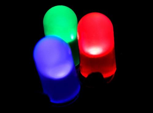 Colored LED lights.