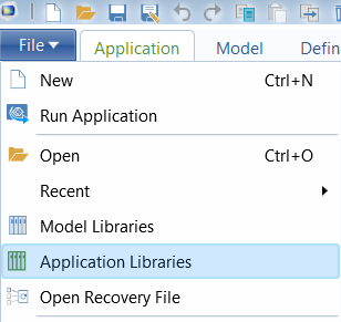 Application libraries
