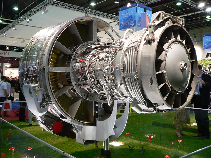A photo of the CFM56 Turbofan Engine.