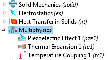Adding more physics and multiphysics couplings in piezoelectric modeling.