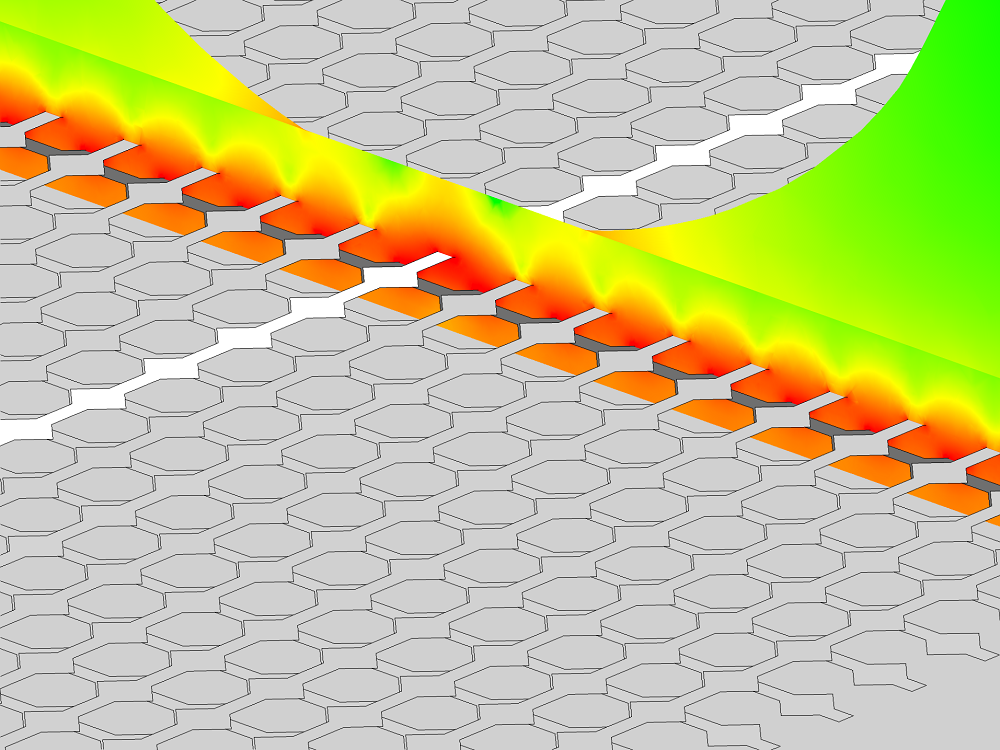 An image showing the color visualization of the electric field.