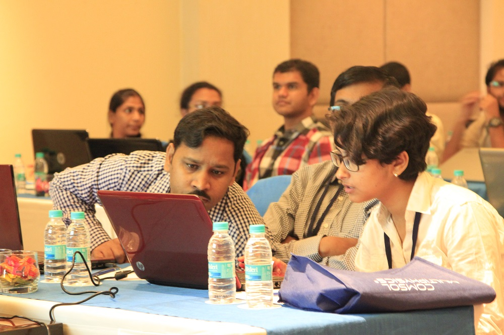 Users get a hands-on experience during the minicourses.