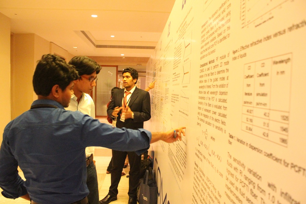 During the poster session.