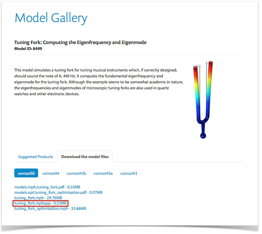 Application Builder tutorial apps available for download in the Model Gallery.