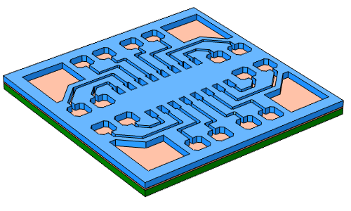 A photoresist is added to the PCB's surface.