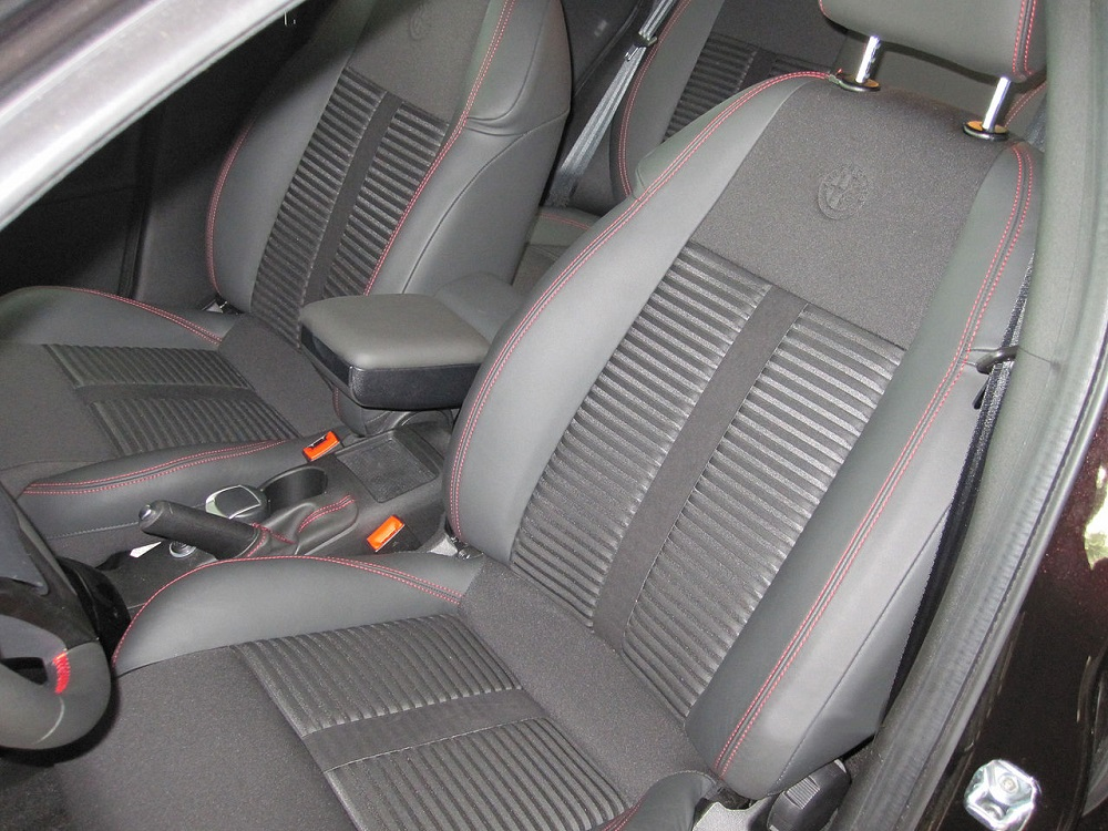 A photo of a vehicle's seat.