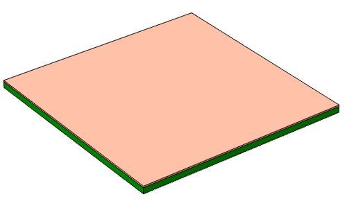 A seed layer is applied to a printed circuit board.