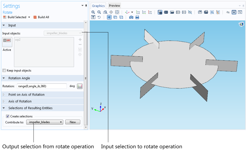 An image showing the settings window for the rotate operation.