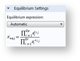 The Equilibrium settings.