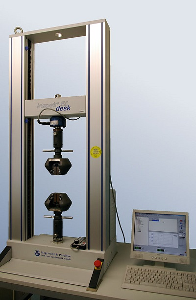 A photo of tensile testing equipment.