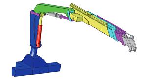 Truck-mounted crane geometry