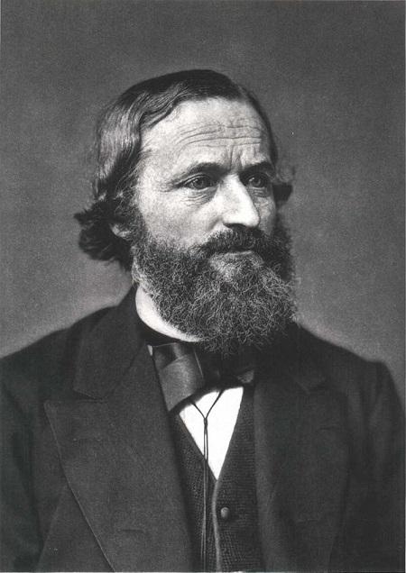 A portrait of Gustav Kirchhoff.