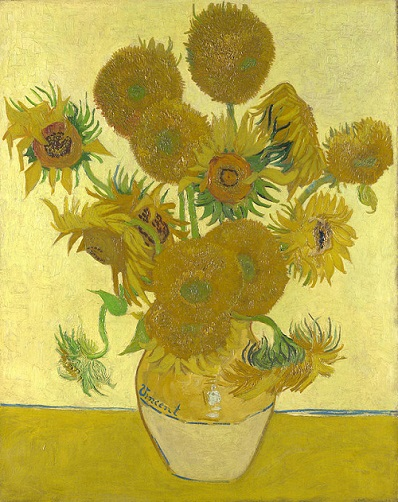 A painting from Vincent van Gogh's Sunflowers series.