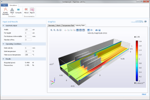 A COMSOL demo app for changing a heat sink's design.