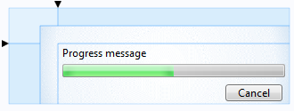 A screenshot of the Progress Message bar is displayed here.