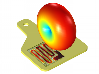 Schematic of a UHF RFID model featured
