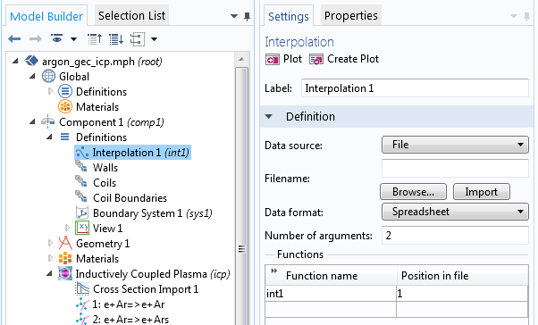 How to import EEDF data into a plasma model.