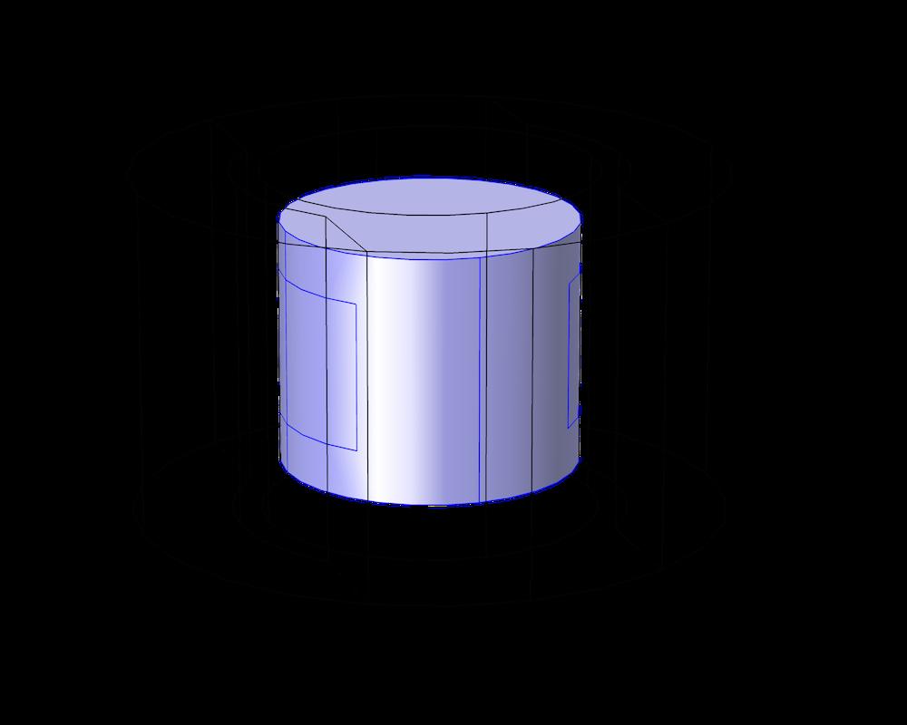 直流电机模型中 COMSOL Multiphysics 安培定律特征图。