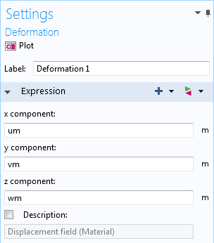 The deformation settings, as seen in a screenshot.