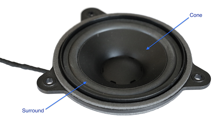 A picture of a loudspeaker.