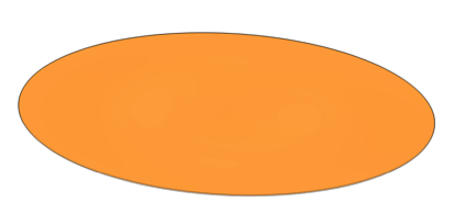 The out-of-phase displacement component in the vibrating disk.