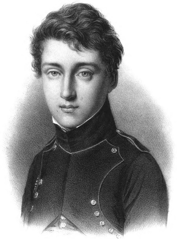 A picture showing a young Nicolas Léonard Sadi Carnot.
