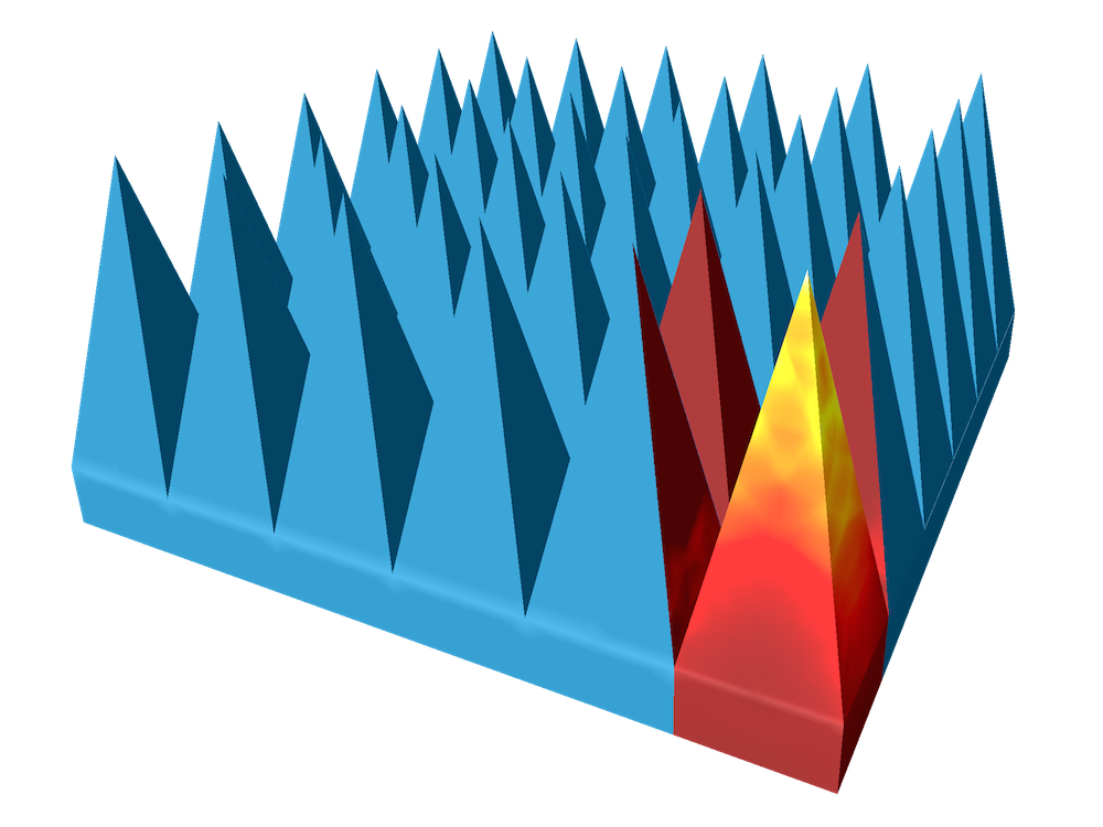 This image depicts a microwave absorber that can work in an anechoic chamber.