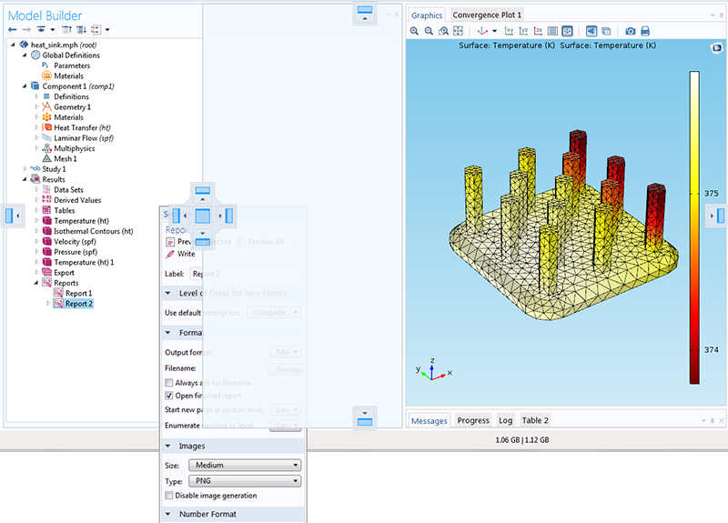 This picture shows someone rearranging their COMSOL Multiphysics desktop.