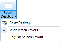 How to reset the desktop layout back to its original parameters.