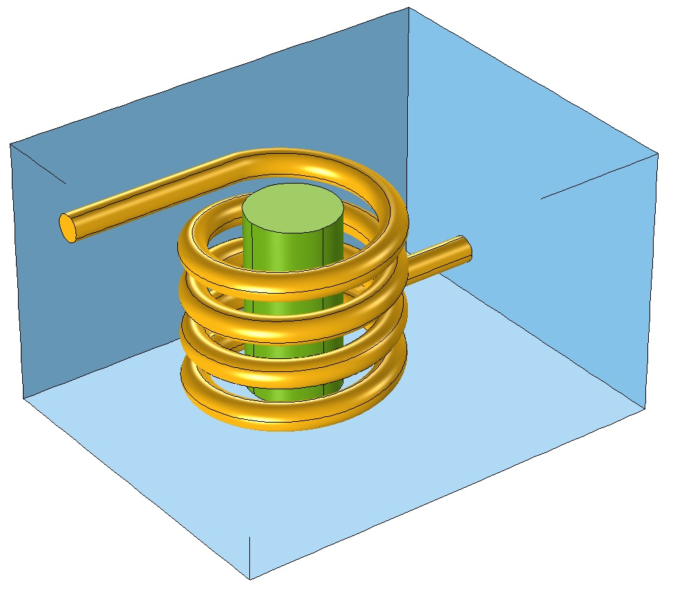 An image of a coil wrapped around a magnetic core.