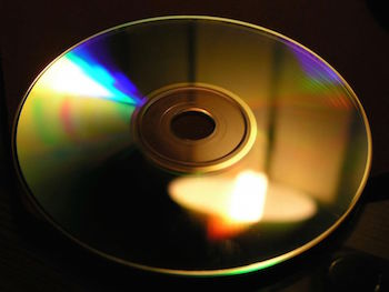 Diffraction grating on CD featured
