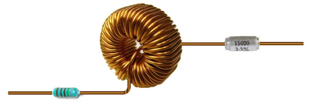 A photograph of an inductive coil.