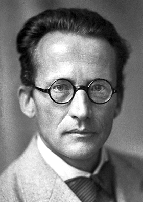 A photo of Erwin Schrödinger.