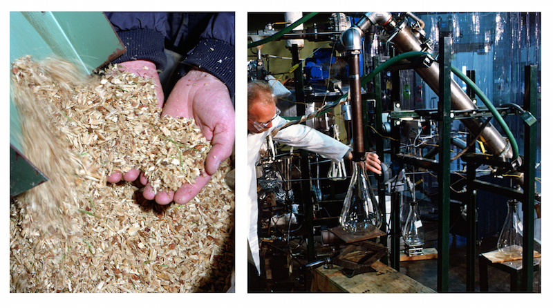 Preparing biomass for pyrolysis and addressing factors within the biofuel conversion process.