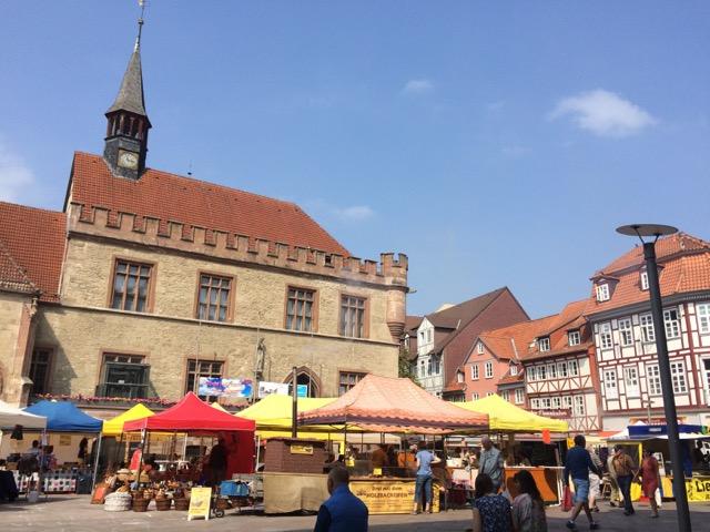 The city center.