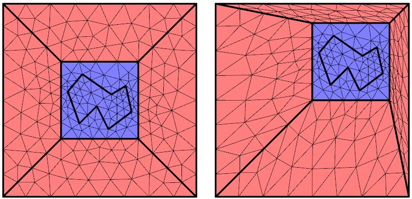 借助助应变量定义变形域。