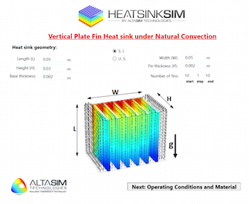 AltaSim Heat Sink App featured