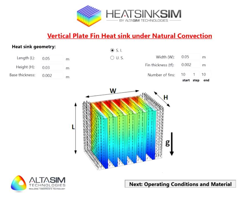 Image showing the AltaSim heat sink simulation app.