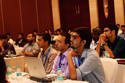 Attendees at hands-on session featured