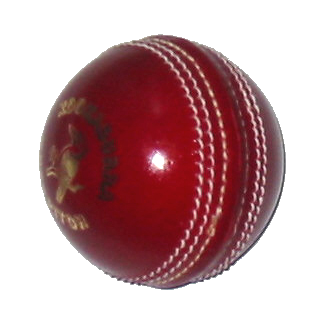 A photograph of a cricket ball.