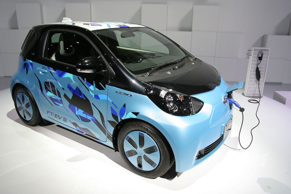 Photograph of an electric vehicle.