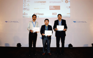 The award winners at the COMSOL Conference 2015 Pune featured