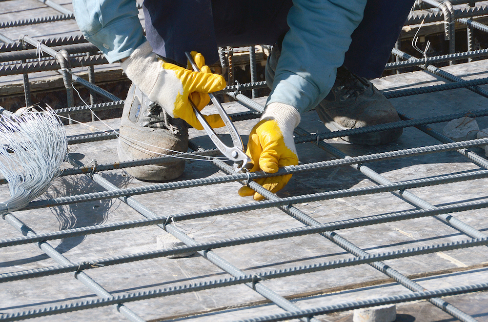 An image of a rebar for use in reinforced concrete.